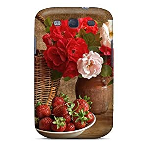 New Galaxy S3 Case Cover Casing(flowers Strawberries) wangjiang maoyi