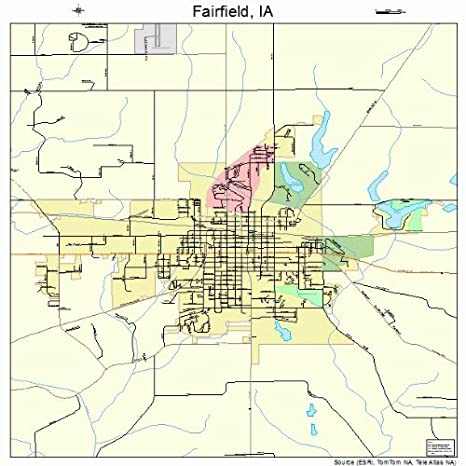 Amazon Com Large Street Road Map Of Fairfield Iowa Ia Printed
