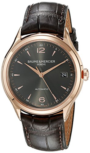 Baume-Mercier-Mens-BMMOA10059-Clifton-Analog-Swiss-Automatic-Brown-Watch