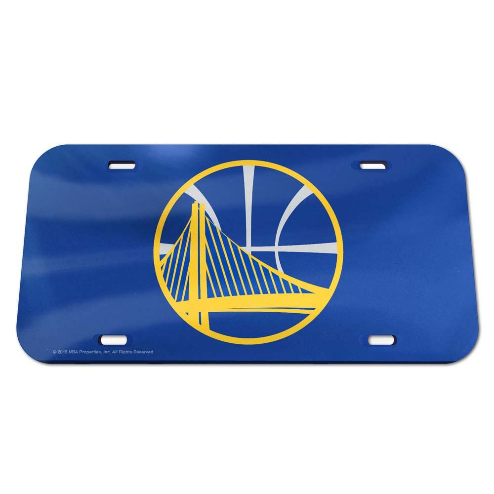 WinCraft NBA Golden State Warriors Crystal Mirror License Plate, Team Color, One Size