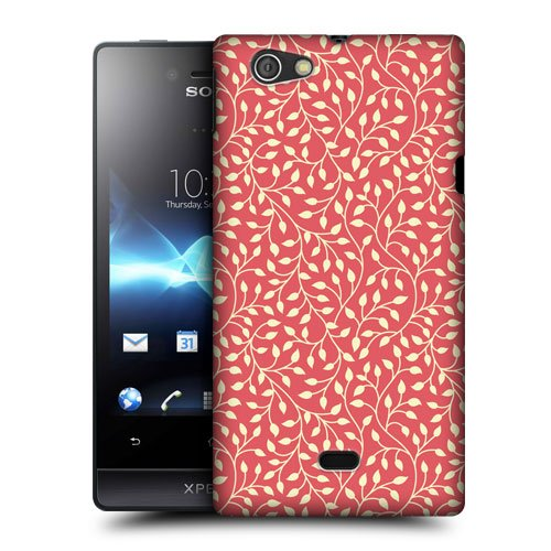 Head Case Designs Warm Leaf Patterns Protective Snap-on Hard Back Case Cover for Sony Xperia miro ST23i