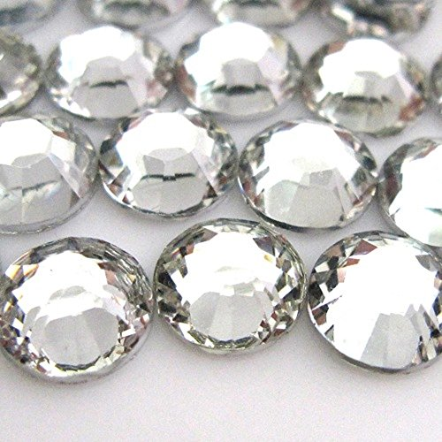 Zbella 3,000 Piece Resin 14-Facet Flat Back Round Rhinestones, Many Sizes and Colors (4mm, Crystal) by Zbella