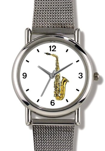 saxophone-musical-instrument-music-theme-watchbuddy-elite-chrome-plated-metal-alloy-watch-with-metal