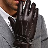 Harrms Best Luxury Touchscreen Italian Nappa Leather Gloves for mens Texting Driving Cashmere Lining