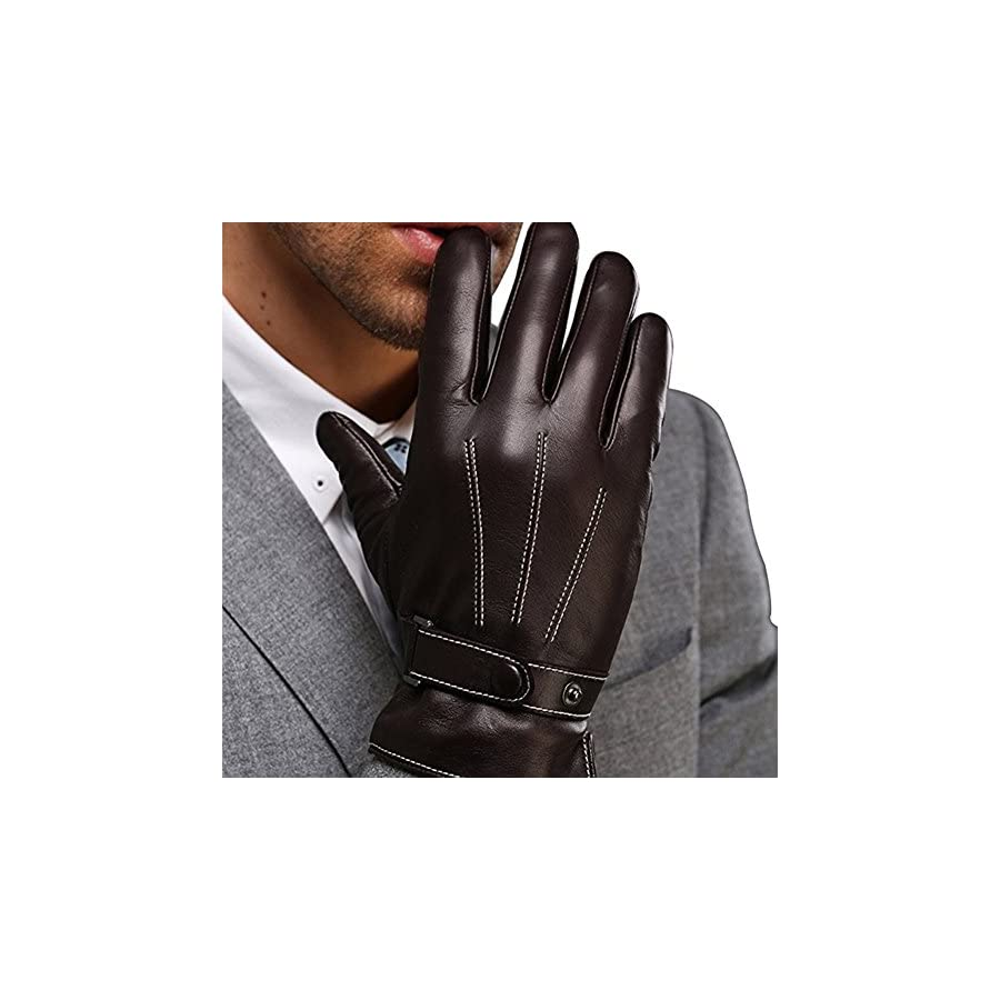 Harrms Best Luxury Touchscreen Italian Nappa Leather Gloves for men's Texting Driving