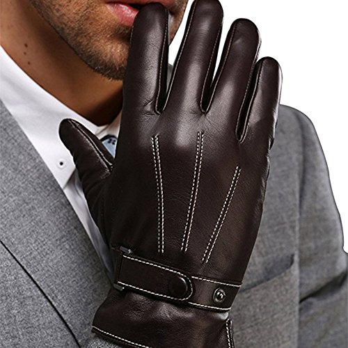 Harrms Best Luxury Touchscreen Italian Nappa Leather Gloves for mens Texting Driving