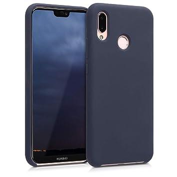 kwmobile Funda para Huawei P20 Lite - Carcasa de [TPU] para teléfono móvil - Cover [Trasero] en [Azul Oscuro Mate]
