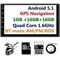 Panlelo PA-09YZ16 7 Inch 2 Din Head Unit Android 5.1 Quad Core RAM 1G ROM 16G GPS Navigation Car Stereo Audio Radio 1080P Video Player Built in Wi-Fi Bluetooth AM/FM/RDS SWC (no dvd player)