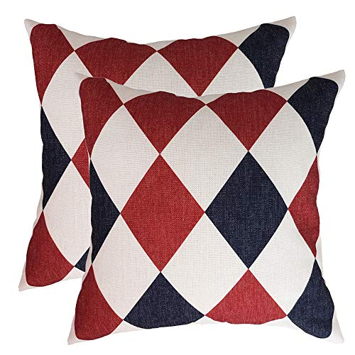 Yeadous ❤Throw Pillow Covers Case, Geometric Pattern Thick Linen Cushion Cover, Best Decorative Pillow Covers for Sofa Couch BedHome Decor 18x18 inches 45x45 cm, Pattern 2
