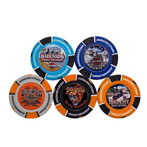 Harley-Davidson Black Hills Group Full Color Poker Chip 5 Store Set