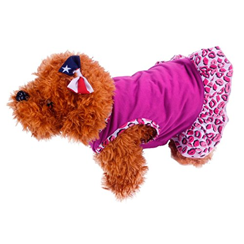 2017 Hot Pet Dress! AMA(TM) Pet Puppy Small Dog Vest Princess Dress Tutu Skirt Doggy Clothes Apparel (S, Purple)