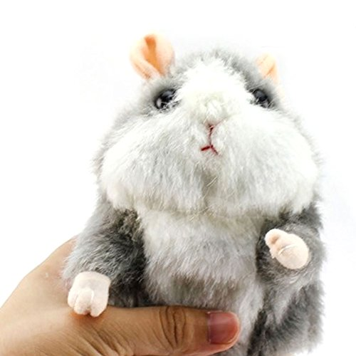 (Electronic Mimicry Talking Hamster Toys - Soft Stuffed Pet Mouse Funny Plush Interactive Toy For Kids Toddler Adults Lovers, Speak It Out Game Voice Recorder Toy Best For Birthday,)