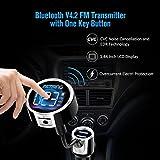 VicTsing V4.2 + EDR Bluetooth FM Transmitter for