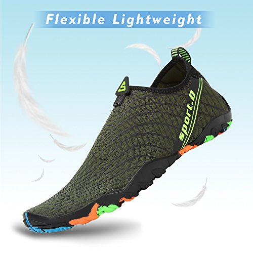 Aqua Barefoot Surf Yoga Diving Dry Shoes Sports Green Womens for Black Quick Swim Mens Beach Walking Water Pool Xzwq4Z188v