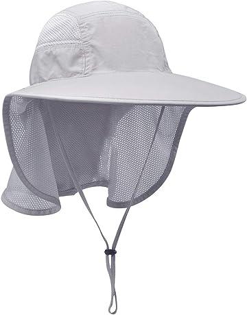 7c7ba75057523 Lenikis Unisex Outdoor Activities UV Protecting Sun Hats with Neck Flap