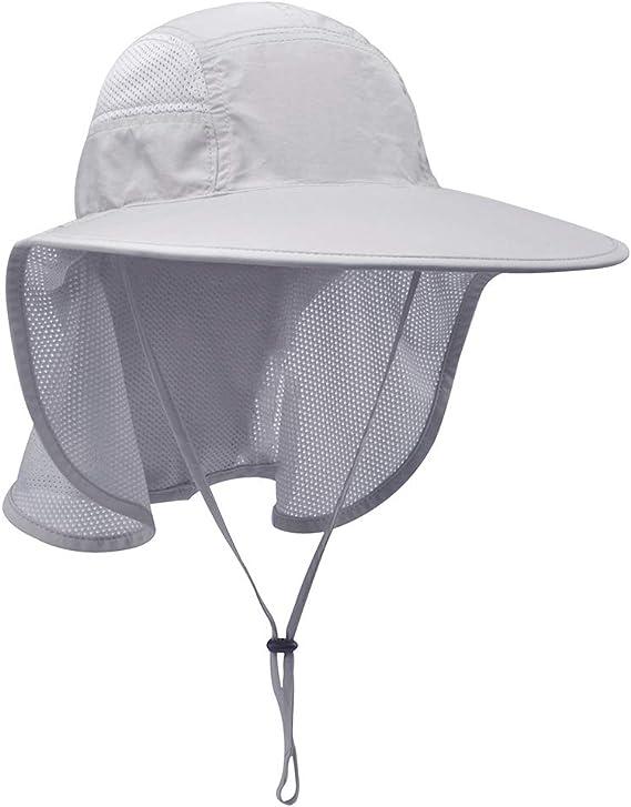 Lenikis Unisex Outdoor Sun Hats with Neck Flap