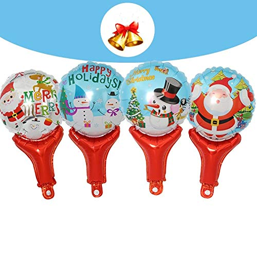 StrongLife Inflatable Bouncers - 10pcs Cartoon Santa Claus Snowman Pattern Short Inflatable Toy Hammer with a Bell Children Toys for Kids Christmas Party 1 PCs