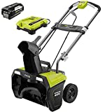 Ryobi 20 in. 40-Volt Brushless Cordless Electric Snow Blower with 5.0 Ah Battery and Charger Included