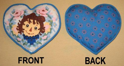 Raggedy Ann Mini Heart Pillow - Blue