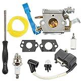 Hilom C1Q-W37 Carburetor with Ignition Coil Spark Plug Fuel Filter Adjusting Tool for Husqvarna 125B 125BX 125BVX Leaf Blower Trimmer Replace 545081811 545 08 18-11