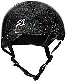 S-ONE Lifer CPSC - Multi-Impact Helmet - Black Gloss Glitter - Large (22'')
