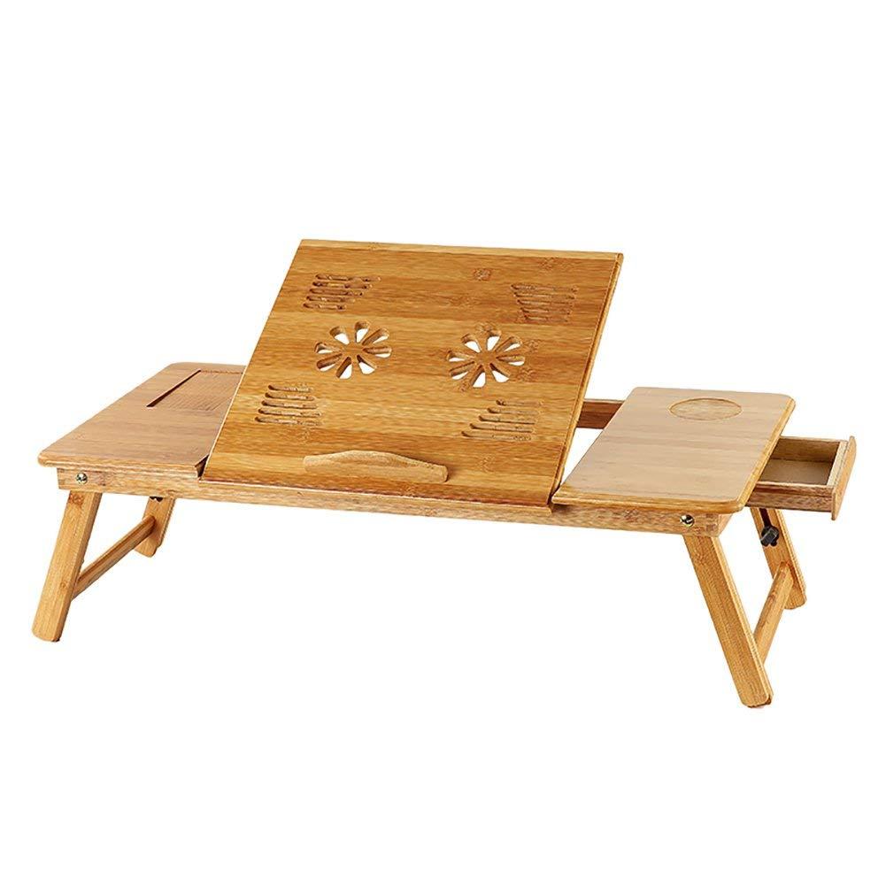 GWFVA Mesa Plegable y Mesa de bambú para computadora portátil ...