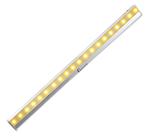 Motion Sensor LED Closet Light   Kitclan Rechargeable 20 LED Stick On  Anywhere Light