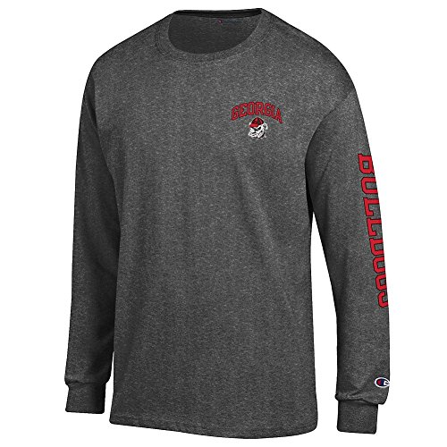 Georgia Bulldogs Apparel (Georgia Bulldogs Long Sleeve Tshirt Letterman Charcoal - XL)