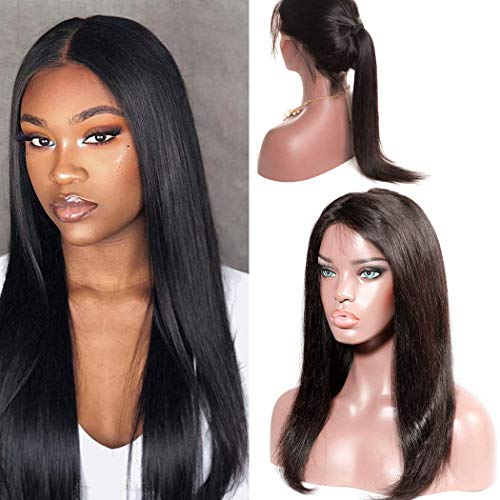 - Full Lace Human Hair Wigs Pre Plucked And Bleached Knots With Baby Hair Glueless Free Part For Black Women Brazilian Straight Virgin Remy Weat And Wavy Cheap Amazon Prime 14 Inch