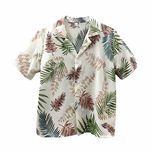 後穀物ゆりシャツ アロハシャツ ハワイシャツ レディース ブラウス 夏 半袖 ファッション おやれ シャツ リゾート 旅行 薄手 ビーチ ゆったり カジュアル 日焼け止め服 Vネック