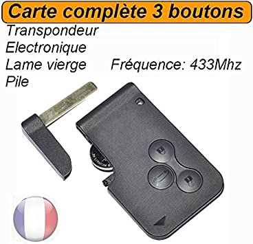 programmer carte scenic 2 Blank key card + electronics to program Renault Megane: Amazon.co