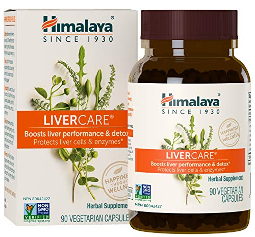 Himalaya LiverCare/Liv. 52 for Liver Cleanse and Liver Detox 375 mg, 90 Capsules, 45 Day Supply