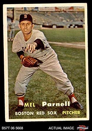 b56f5d9e8 1957 Topps # 313 Mel Parnell Boston Red Sox (Baseball Card) Dean's Cards 4