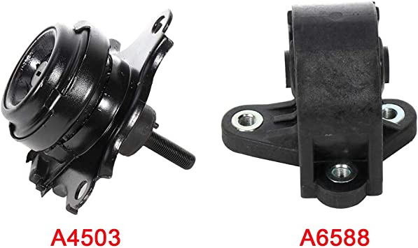 cciyu Engine Motor and Trans Mounts A4503 A6588 Set of 2 fit for Honda Civic 2003 2004 2005 1.3L L4 Hybrid