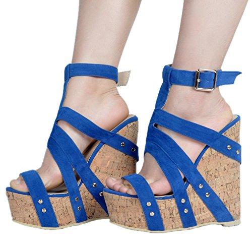 Zapatos azules formales Kolnoo para mujer otXlH