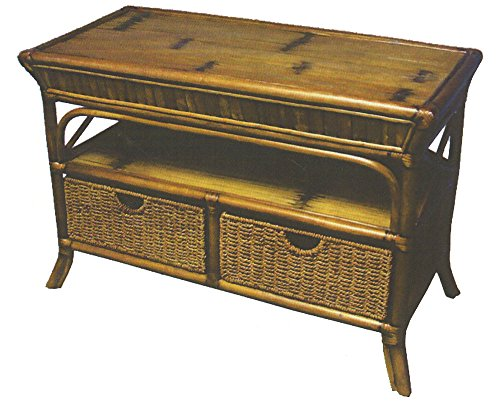 Captiva Rattan and Wicker TV Cabinet with 2 Drawers from Summit Design