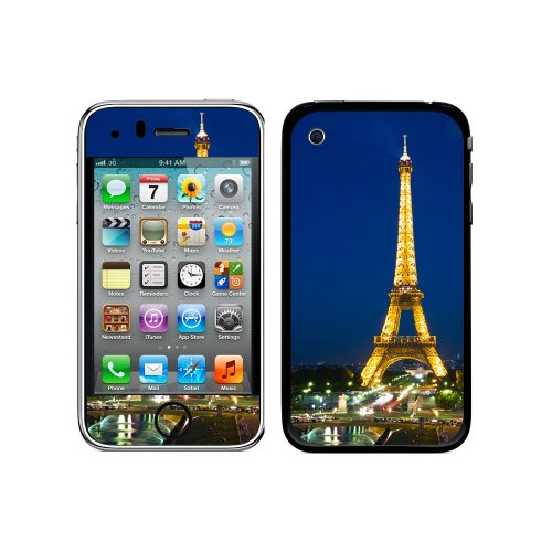 Graphics and More Protective Skin Sticker Case for iPhone 3G 3GS - Non-Retail Packaging - Paris - Eiffel Tower at Night (3g Skin Case)