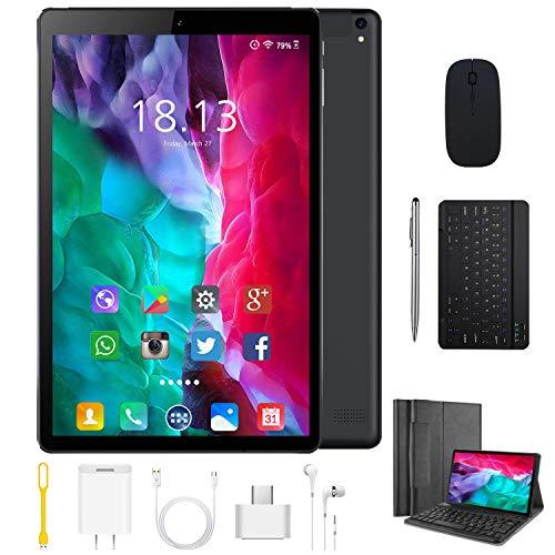 🥇 Tablet 10.1 Pulgadas 4G Android 9.0 Quad Core DUODUOGO P8 Tablet 4GB RAM 64GB ROM/128GB Escalables 8000mAh Doble SIM/Cámara Tablet PC Google GMS Netfilx WiFi