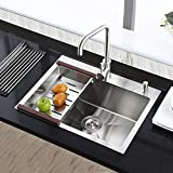 Simple Kitchen Sink 26 Inch for Kitch Stainless Steel Silver