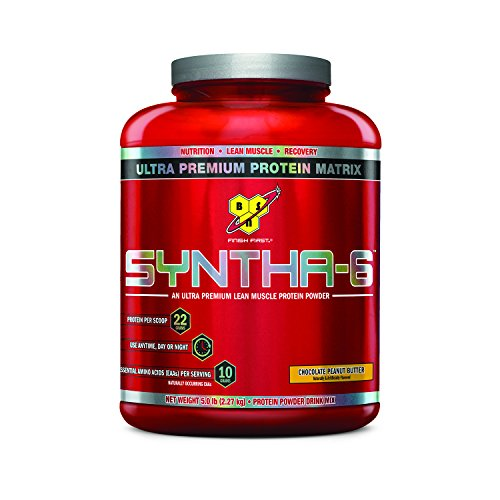 BSN SYNTHA-6 Protein Powder, Whey Protein, Micellar Casein, Milk Protein Isolate, Flavor: Chocolate Peanut Butter, 48 Servings