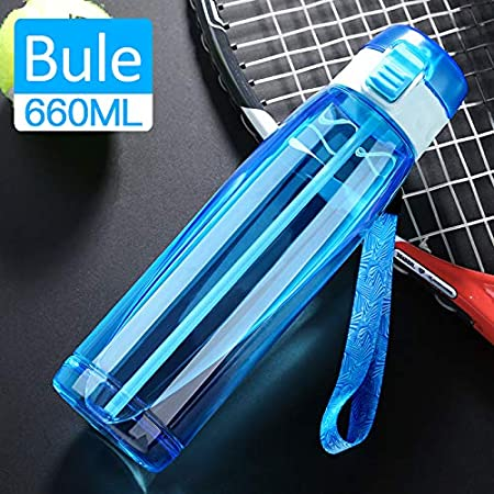 LT outdoor Silicone Nozzle Eco-Friendly Tritan Co-Polyester Plastic/&Leak-Proof One Click Open Autosport Creative Water Bottle One Click Open Secured Safety Lock and Portable Autospout Creative Water Bottle,23 Oz Blue