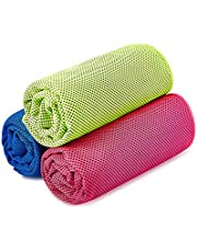 SKL Unisex's 3 Pack Instant Ice Gym Quick Dry Microfibre Cooling Sports Towel for Golf Swimming Yago Football Running Workout (36 x 12 Inch)