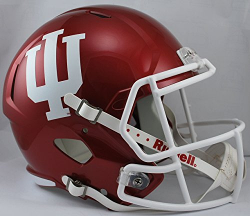 (NCAA Indiana Hoosiers Full Size Speed Replica Helmet, Red,)