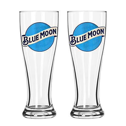 Boelter Brands Blue Moon Signature Pilsner Set, 16-ounce, 2-Pack by Boelter Brands
