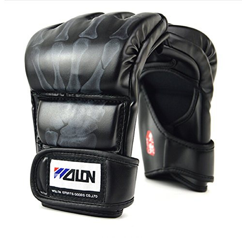 Cheerwing-Half-Finger-Boxing-Gloves-MMA-UFC-Sparring-Grappling-Fight-Punch-Ultimate-Mitts-Leather-Gloves