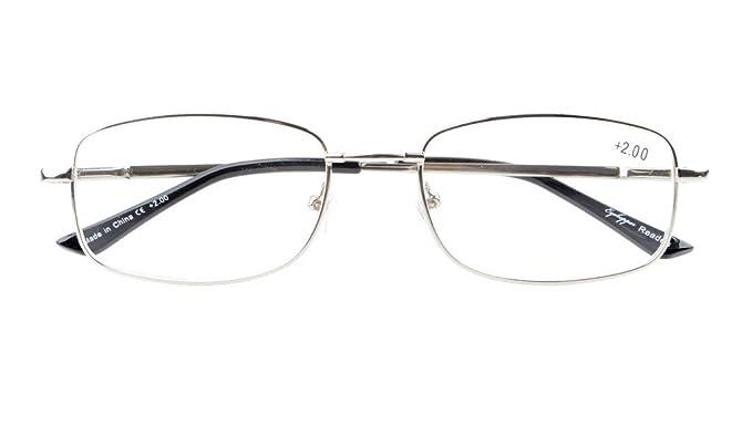 Eyekepper Ponte-flex memoria di titanio delle donne degli uomini della molla Cerniere occhiali da lettura Silver +4.0 s3CQpSZ9ir