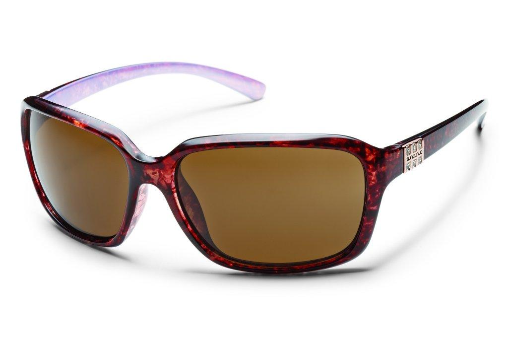 Suncloud Blossom Polarized Sunglasses, Tortoise Backpaint Frame, Brown Polycarbonate Lenses