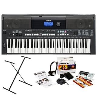 Yamaha PSR-E433 61-Key Portable Keyboard Bundle with Yamaha X-Style