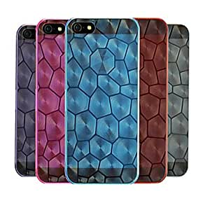 TPU Water Cube Design Transparent Back Case for iPhone 5/5S(Assorted Color) --- COLOR:White