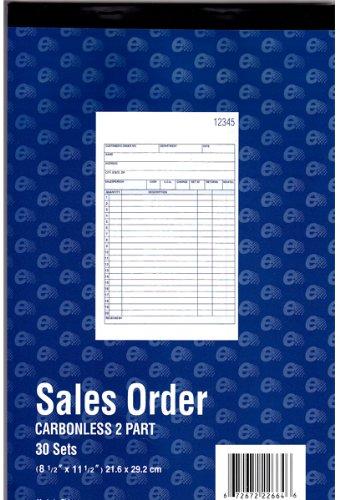 Sales Order Book - 8.5'' x 11'' - 30 sets 60 pcs sku# 1294778MA by DDI